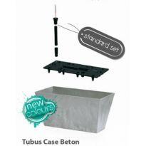 Samozavlažovací květináč-truhlík 38,6l TUBUS CASE BETON