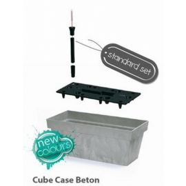 Samozavlažovací květináč-truhlík 8l CUBE CASE BETON