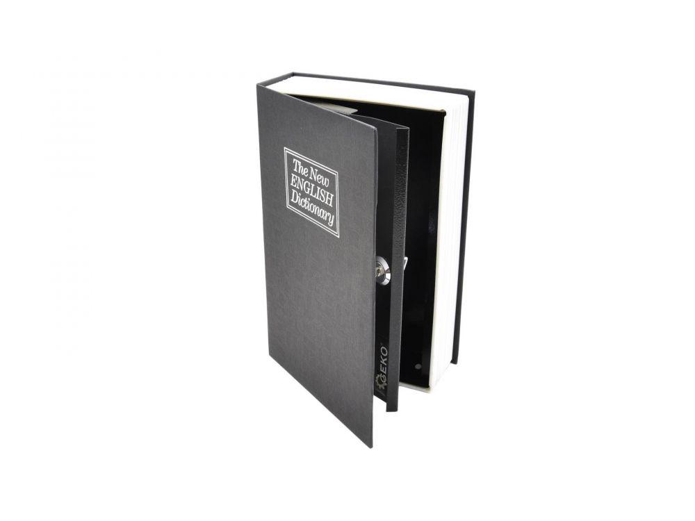 Schránka, knížka na peníze přenosná 180x115x55mm, 2 klíče GEKO