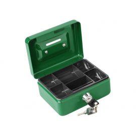 Schránka na peníze přenosná s otvorem pro mince, 125×95×60mm, 2 klíče, plastový pořadač na mince, EXTOL CRAFT