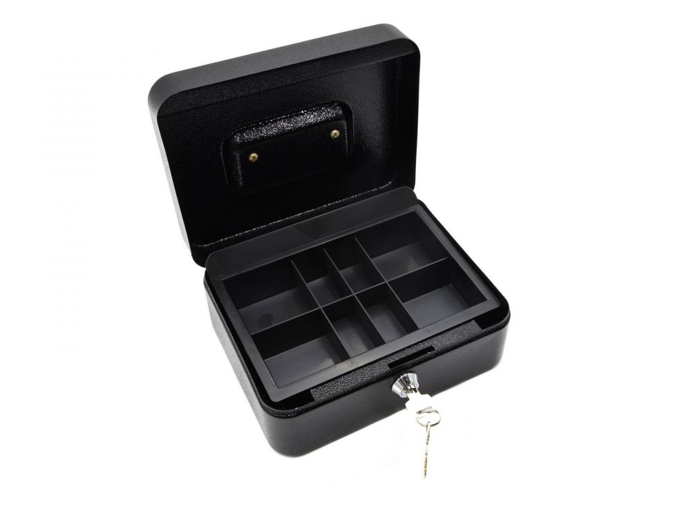 Schránka na peníze přenosná s plastovým pořadačem 200x160x90mm, 2 klíče GEKO
