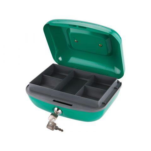 Schránka na peníze přenosná s pořadačem, 265x210x120mm, 2 klíče, plastový pořadač na mince, EXTOL CRAFT
