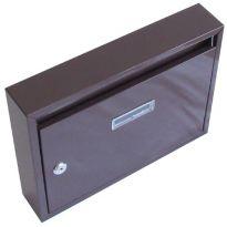 Schránka poštovní G21 paneláková 320x240x60mm hnědá bez děr