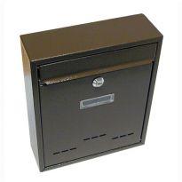 Schránka poštovní RADIM malá 310 x 260 x 90 mm hnědá