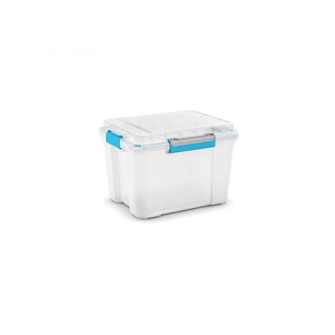 Scuba box M bílý/modré klipy