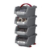 Set 4 malých boxů Click bin