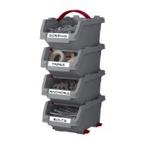 Set 4 středních boxů Click bin