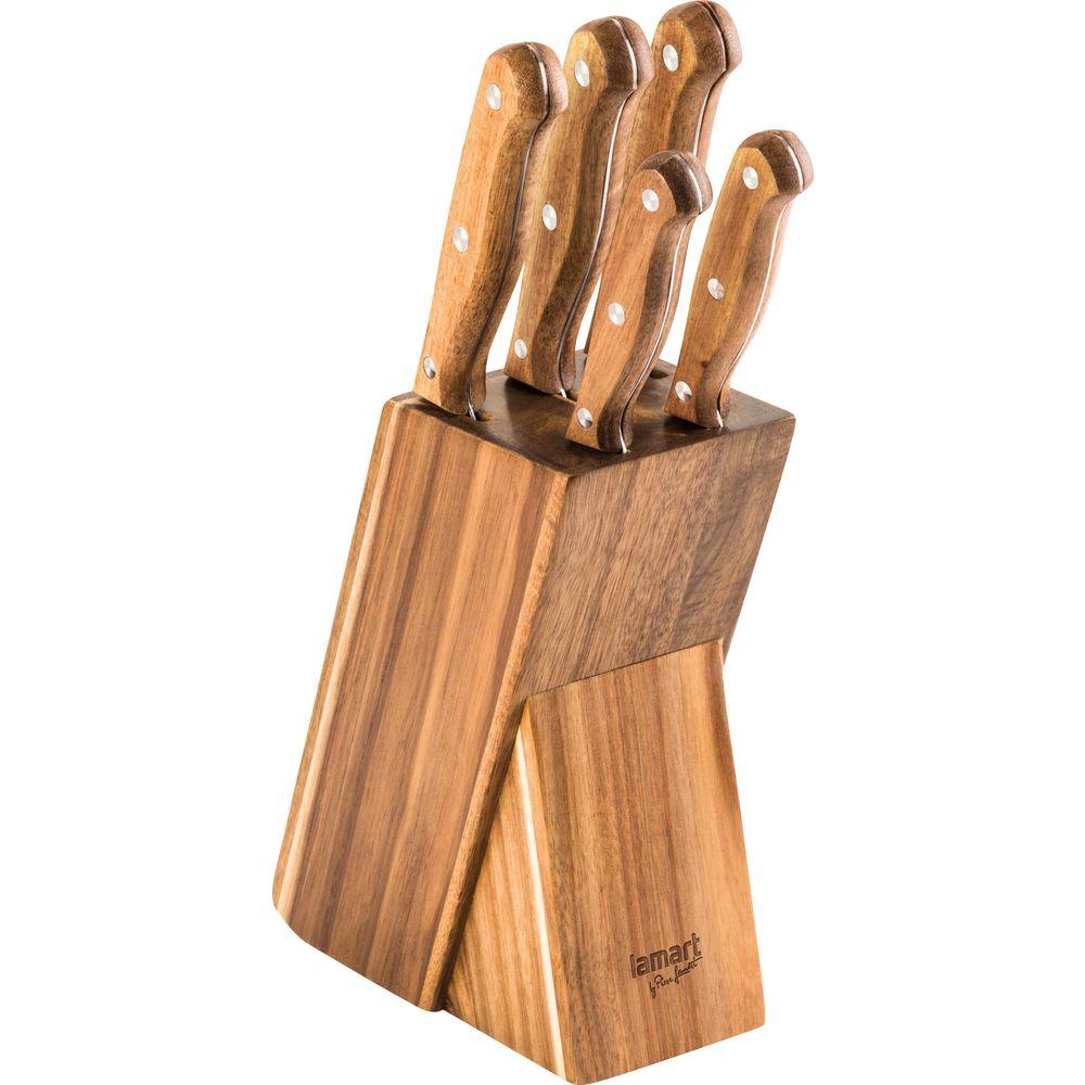 LT2080 Set 5 nožů Wood LAMART *HOBY 0Kg 42002449
