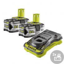 Set akumulátor + nabíječka RC18150-250 Ryobi, 18V, 2x 5,0Ah