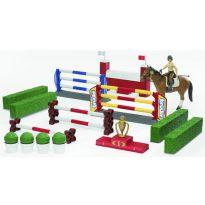 Set pro parkur - překážky a jezdkyně s koněm 62530 BRUDER