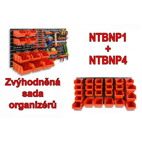 Set závěsných organizérů na nářadí NTBNP1+NTBNP4