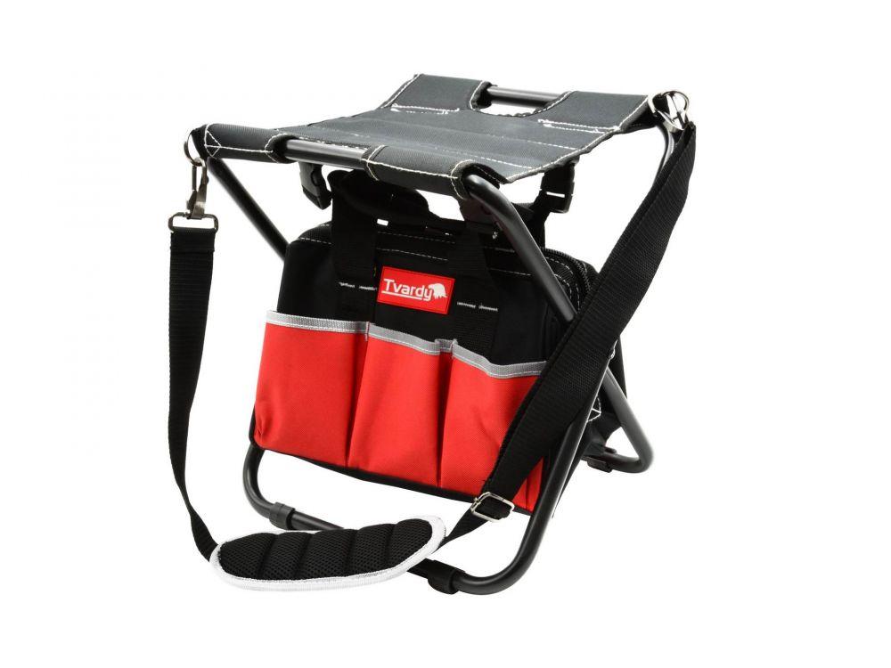 Skládací stolička do dílny s taškou TVARDY