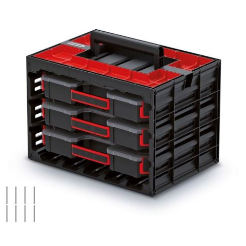 Skříňka s 3 organizéry (přepážky) TAGER CASE 415x290x290 KISTENBERG