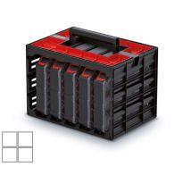 Skříňka s 5 organizéry (krabičky) TAGER CASE 415x290x290 KISTENBERG