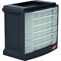 Skříňka se šuplíčky černá