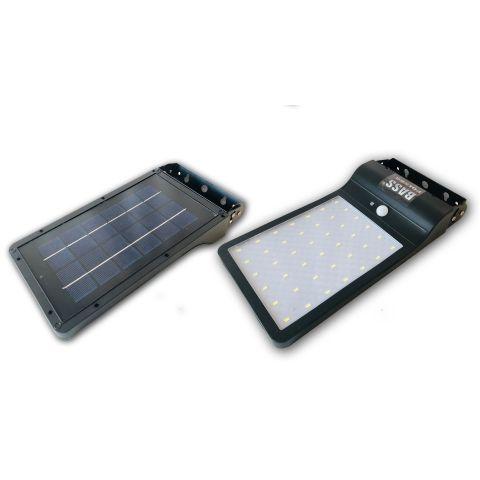 Solární lampa 42 LED, 20W, s pohybovým senzorem BASS