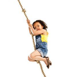 Šplhací lano s uzly 2,15m, lano PP25 KAXL