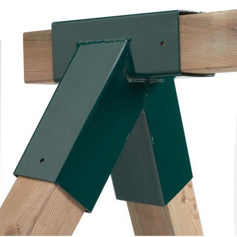 Spojovací díl, rohový spoj pro hranol 90 x 90 mm, zkosený,  KAXL