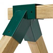 Spojovací díl, rohový spoj pro hranol 90 x 90 mm, pravoúhlý, KAXL
