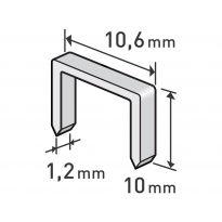 Spony, balení 1000ks, 10mm, 10,6x0,52x1,2mm EXTOL PREMIUM