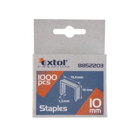 Spony, balení 1000ks, 8mm, 11,3x0,52x0,70mm, EXTOL PREMIUM