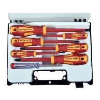 Šroubováky elektrikářské se zkoušečkou, sada 7ks, 3x(-), 3x(PH), CrV EXTOL PREMIUM