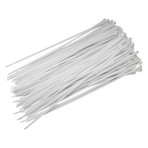 Stahovací pásky bílé, 250x4,8mm, 50ks, nylon, EXTOL CRAFT