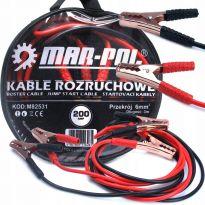 Startovací kabely 200A, 3m, 6mm2 MAR-POL