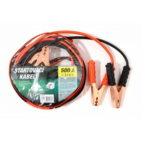 Startovací kabely 500A 2,5m zipper bag COMPASS
