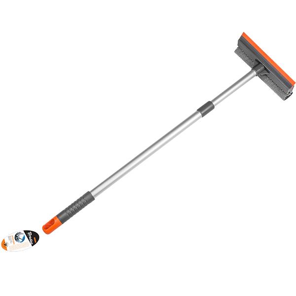 Stěrka na mytí skel oboustranná, teleskopická 20cm, rukojeť 60-95cm *HOBY 0Kg BR-ES2110