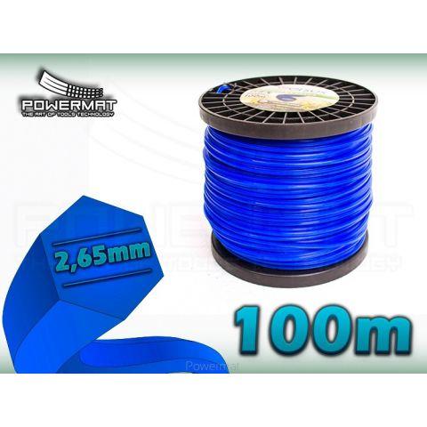 Struna 6-hran 100m 2,65mm VERSUS (modrá)