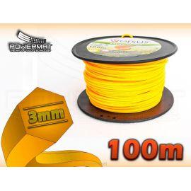 Struna 6-hran 100m 3mm VERSUS (oranžová)