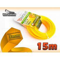 Struna 6-hran 15m 3mm VERSUS (oranžová)