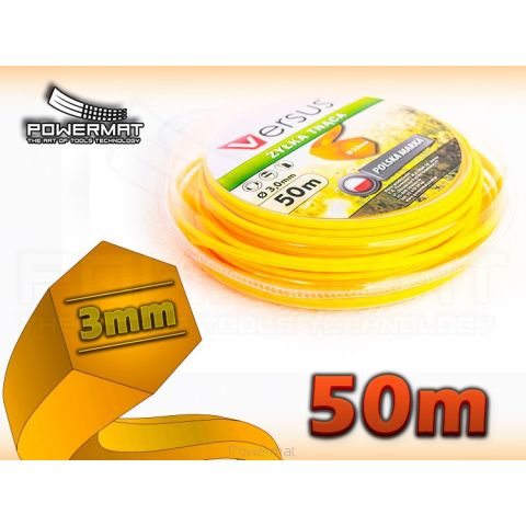 Struna 6-hran 50m 3mm VERSUS (oranžová)