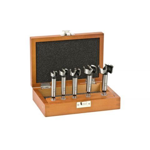 Sukovník na vrtání do dřeva Forstner 5 ks v dřevěné krabičce KWB