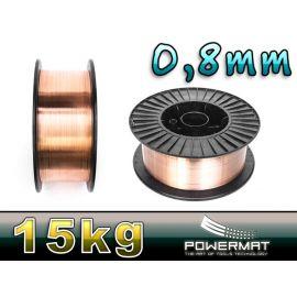 Svářecí drát 0,8mm 15kg POWERMAT