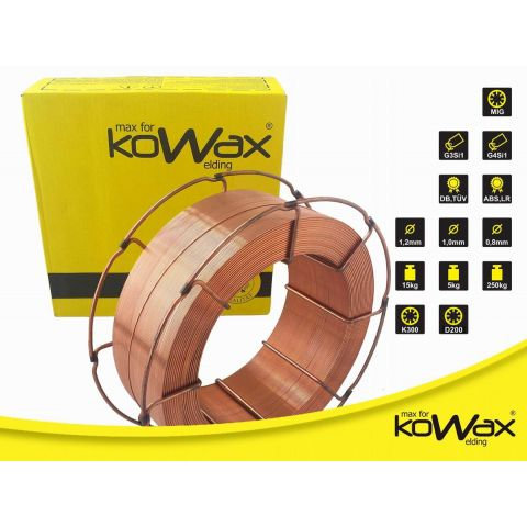 Svářecí drát SG2 1mm 15kg KOWAX (G3Si1)