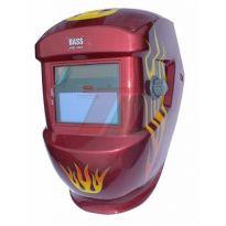 Svářečská kukla samostmívací, červená s potiskem, BASS