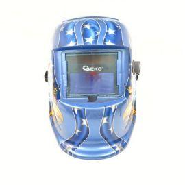 Svářečská kukla samostmívací, modrá s potiskem GEKO