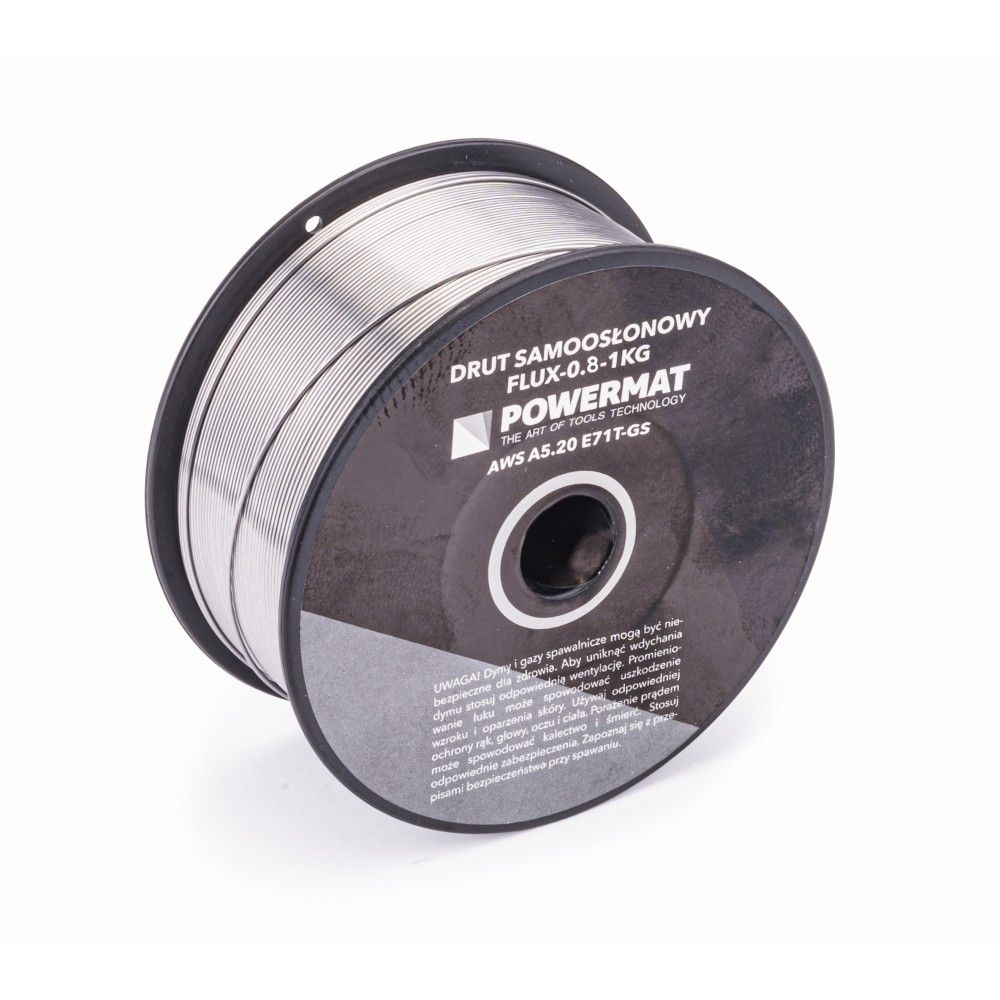 Svařovací drát trubičkový, 0,8 mm, 1 kg POWERMAT