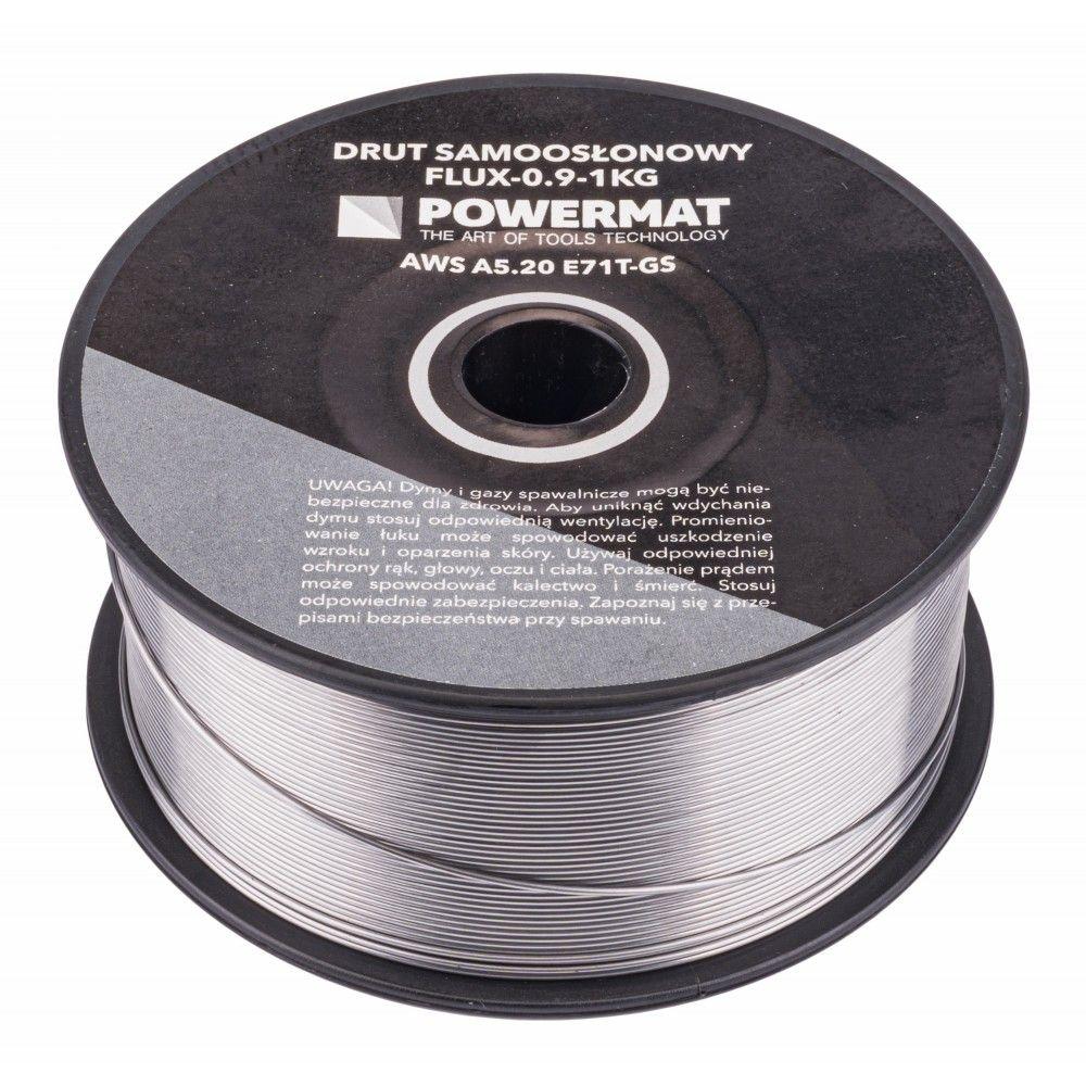 Svařovací drát trubičkový, 0,9 mm, 1 kg POWERMAT