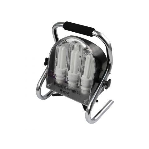 Světlo pracovní přenosné s podstavcem a 2 zásuvkami, EXTOL