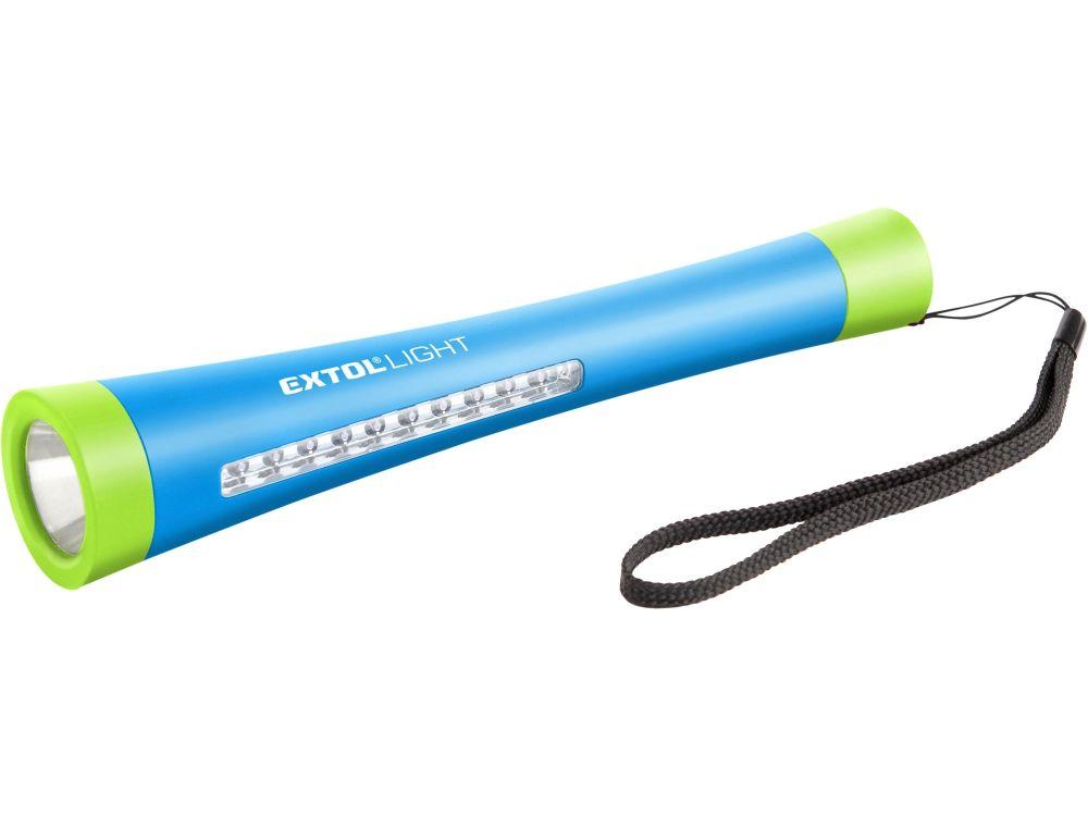 Svítilna 1W+10 LED s magnetem, baterie 3xAAA 1,5V (nejsou součástí), EXTOL LIGHT *HOBY 0.111Kg 43111