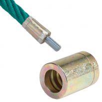 Svorka k lanu s ocelovým jádrem, kulatá, chromatizovaná ocel KAXL