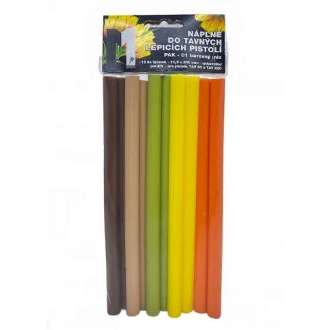 Tavné lepidlo PAK 01 tyčinky 11x200mm 10ks barevný mix (jaro)