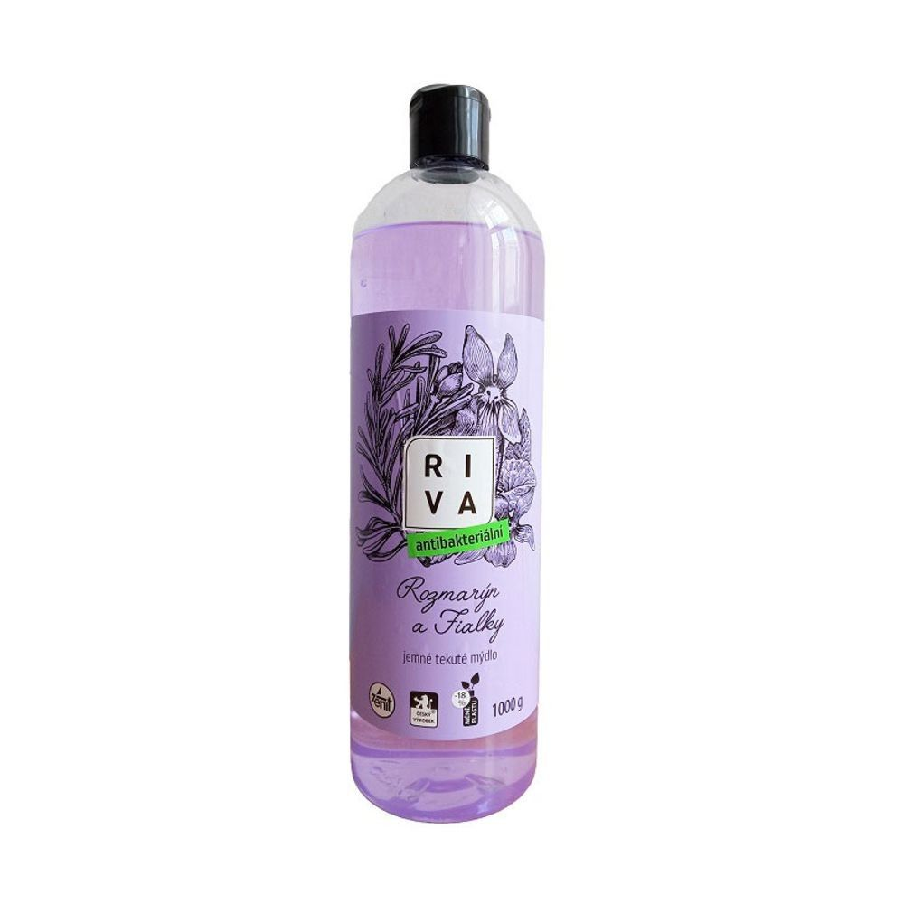 Tekuté mýdlo Riva s antibakteriální přísadou a glycerinem, 1kg *HOBY 1.1Kg Z315160