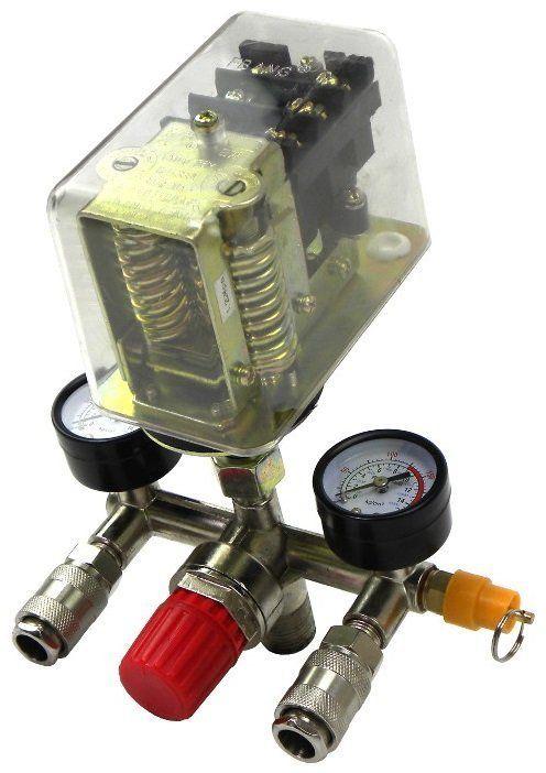 Tlakový spínač pro kompresor, 3 fáze, 400V MAR-POL, průhledný