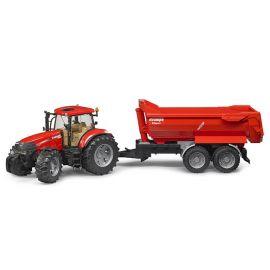 Traktor Case IH Puma CVX 230 se sklápěcím přívěsem Krampe 03099 BRUDER