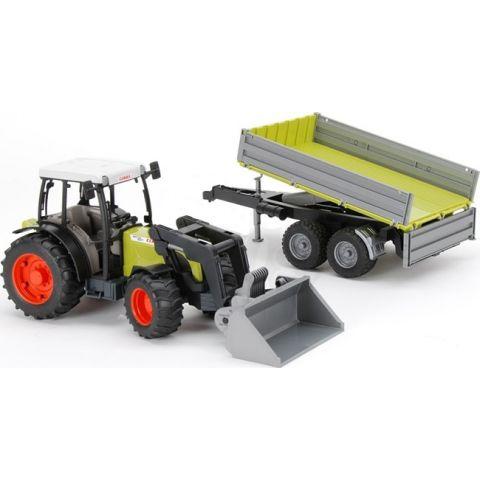 Traktor Claas Nectis 267F + čelní nakladač + sklápěcí přívěs 01998 BRUDER