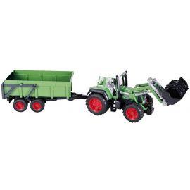 Traktor Fendt Favorit 926 s čelním nakladačem a přívěsem 01169 BRUDER
